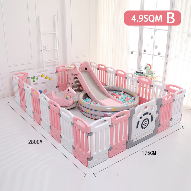 Baby Play Pen Playpen Safety Fence Plastic Playpen Kids Baby Playpen