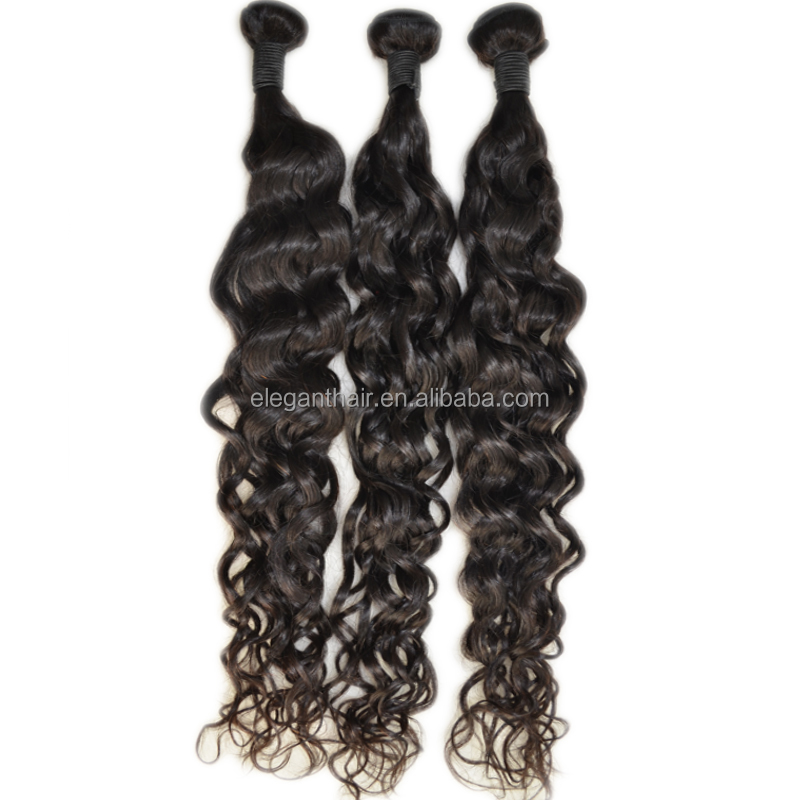 Wholesale Beauty Ltalian Wave 100 Human Hair Indian Natural Wave Cheap Virgin Indian Hair Bundles Free Shedding and Tangle
