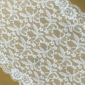 Free sample offer floral stretch lace fabric 33cm wide stretch lace trim