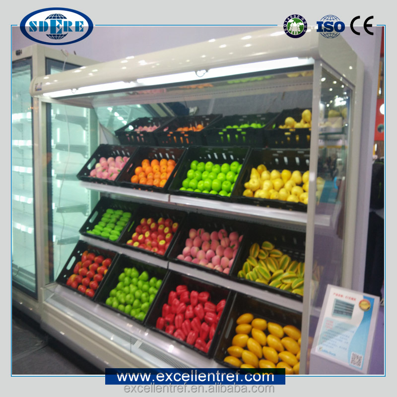 Vegetable And Fruit Chillerrefrigeratordisplay Showcase Used In