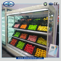 vegetable and fruit chiller/refrigerator/display showcase used in supermarket or grocery