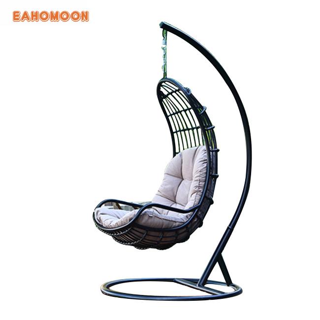 Hangstoel Bruin Egg.Rattan Hanging Chairchair Hanging Egg Chair Outdoor Swing For