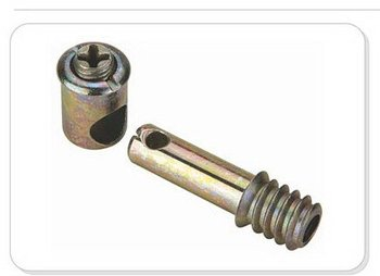 Furniture bolt screw hardware cross dowel joint connector for Furniture joint connector