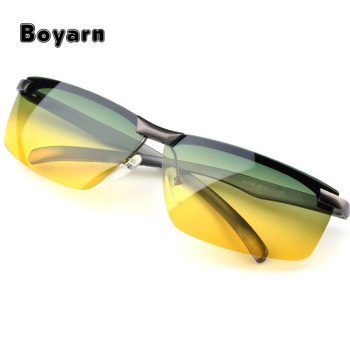 52c3ccccca1 Polarized Sunglasses Night Vision Goggles Men s Car Driving Glasses Anti- glare Alloy Driver Sun Glasses