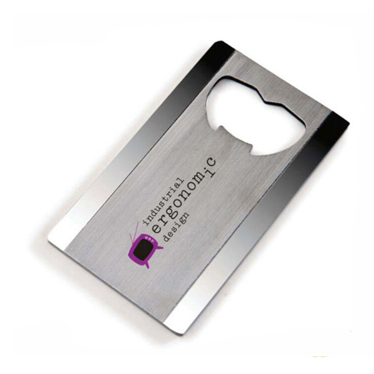 Custom flesopener business credit card custom metalen flesopener
