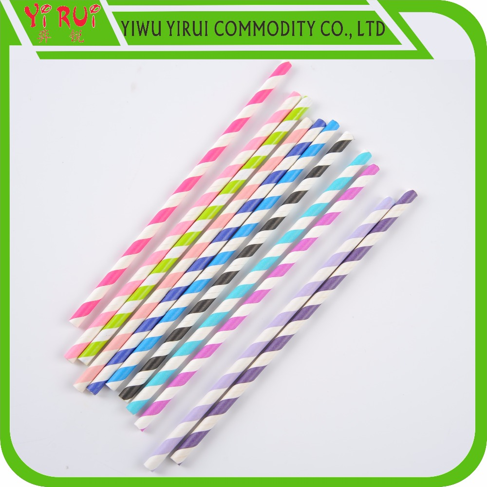 Yiwu Yirui Factory Colorful Whorl Pattern Paper Drinking Straws ...