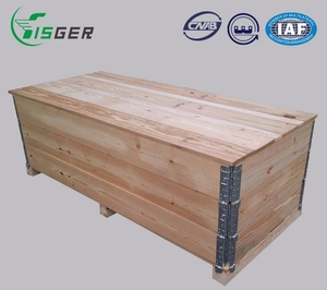 Large Wood Foldable Packaging Box With 3 Parts which can use many times