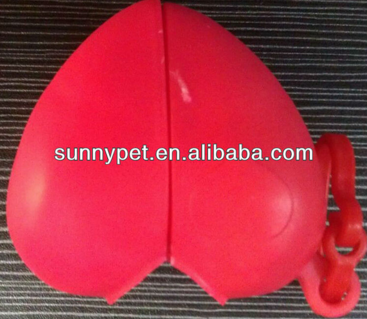material HDPE for plastic pets garbage bags with heart shaped dispenser