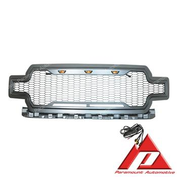 18-19 F150 Metallic Charcoal Gray ABS LED Impulse Mesh Packaged Grille