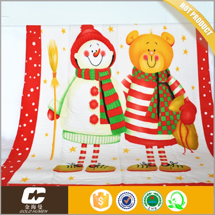 "warm printed offset printing security baby polar fleece blanket 50""*60"" plush farbic blanket"