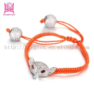 China factory female jewelry 925 silver animal woven bracelet