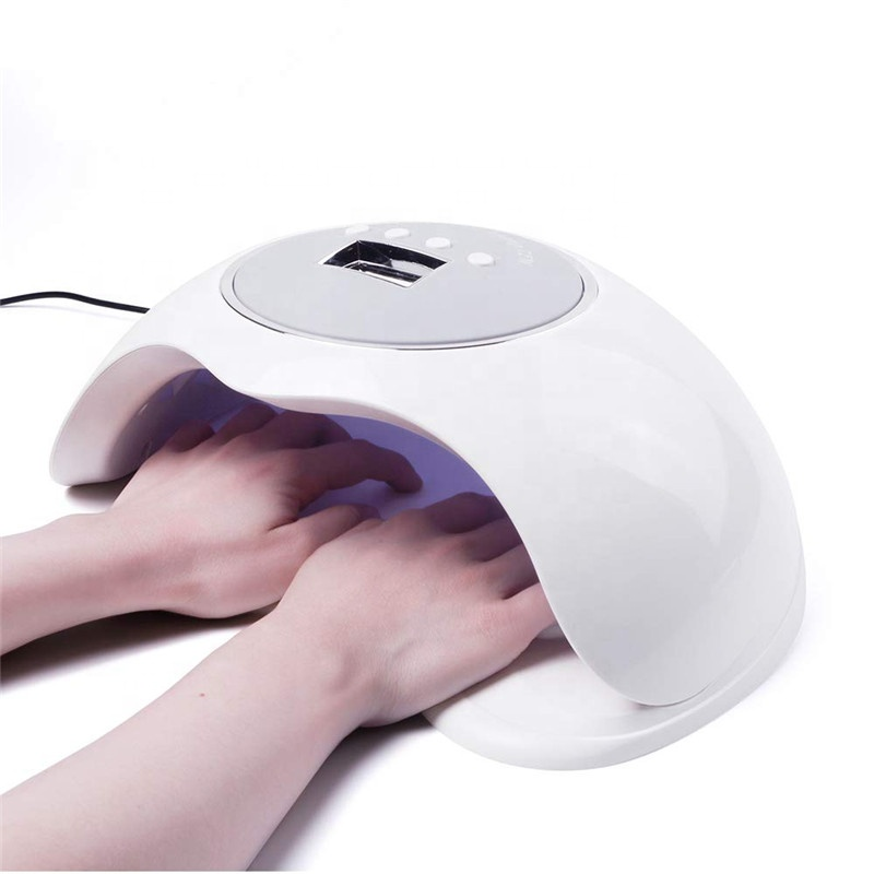 Trending product 72w Double hand nail polish professional oem finger uv lamp nail dryer Led gel lamp for nail gel polish