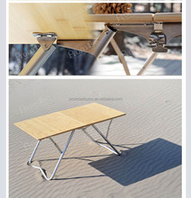Bamboo camping foldable table outdoor furniture PCT349