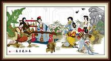 Феи собирают вместе супер большой узор украшения гостиной сетки вышивка рукоделие DIY ручной вышивки крестом наборы(Китай)