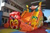 High quality cheap dinosaur inflatable dry giant slide for sale