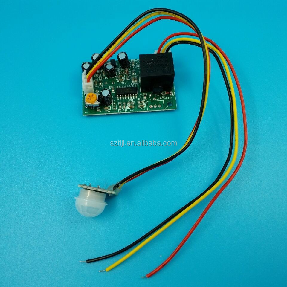 24V pir sensor human body motion induction module