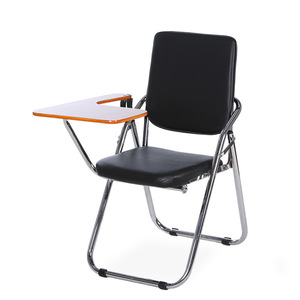 Wholesale JOHOO PU meeting conference training chair with tablet arm