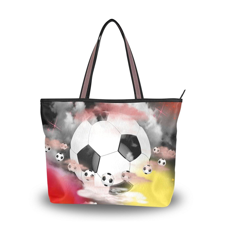 WIHVE Women's Shoulder Bag Satchel Handbags Football Travel Tote Purse