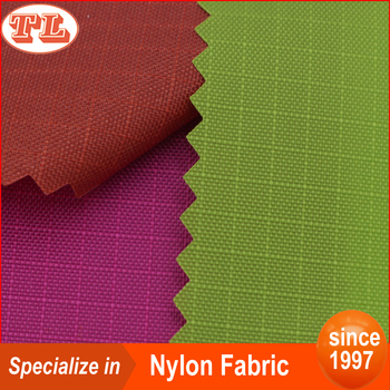 210D 0.4 grid nylon ripstop fabric with PU coated cover for handbag