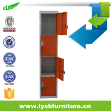 Double Colour 4 doors Metal Storage for Office Staff and School Students Locker