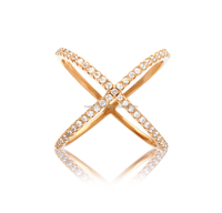 2015 fashion Purity 14k ladies gold finger ring