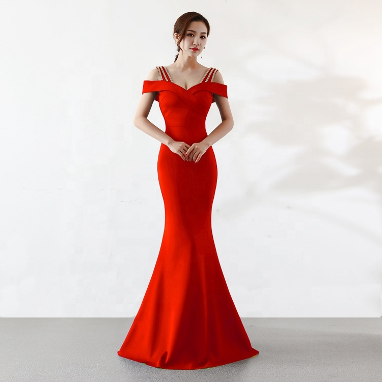 High-end Factory Outlet 2019 New Arrivals Party Sexy Bodycon Bead Elegant Maxi Prom Women Evening Dress фото