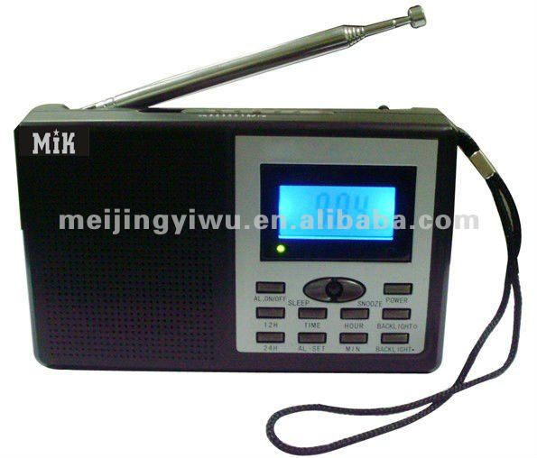 MK-76 good quality alarm clock radio with lcd display