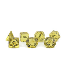Grande per DnD RPG Dungeons And Dragons Intagliato A Mano <span class=keywords><strong>Giallo</strong></span> Quarzo <span class=keywords><strong>Dadi</strong></span>