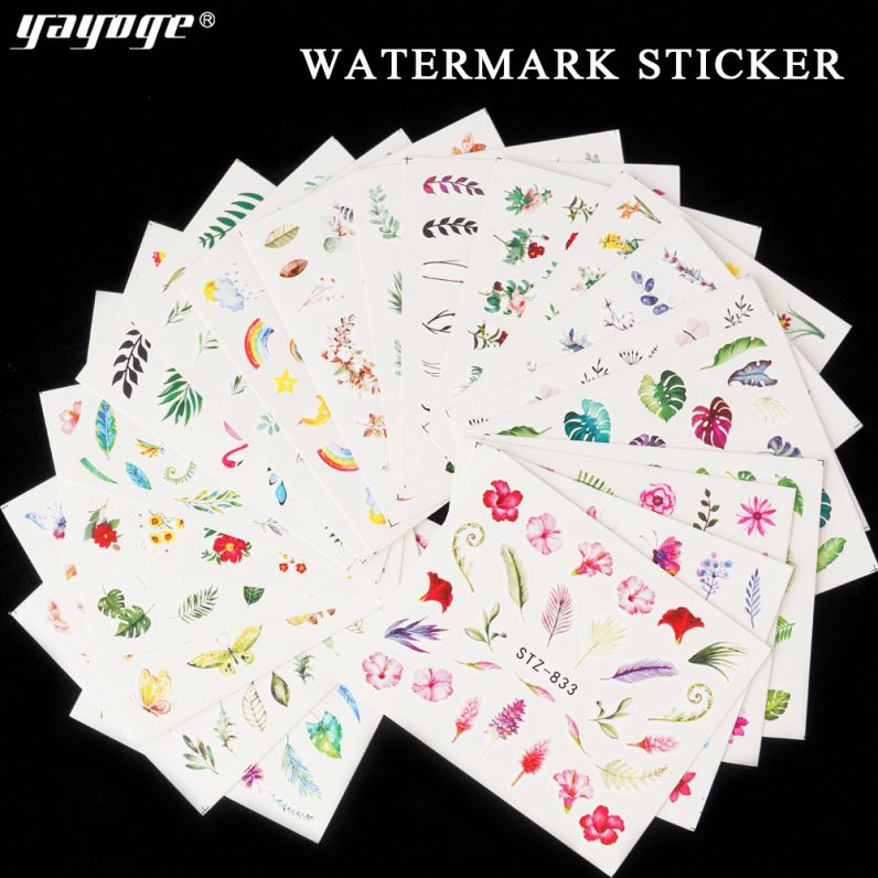 Gel Polish Temporary Tattoo Sticker Body Decals Nail Art Water Decal Stickers