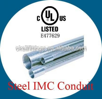 "1/2"" to 4"" NPT thread Galvanised Steel Electrical IMC Conduit Pipe Tubing"