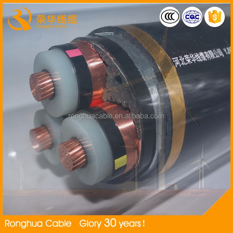 6/10KV 26/35KV Medium Voltage Cable Cu/XLPE/SWA/PVC XLPE Insulated High Quality 120mm2 Power Cable 0.6/1kv 4 cores rubber cable