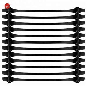 Road Construction UX HDPE Polypropylene Plastic Uniaxial Geogrid