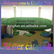 Air sealed inflatable water pillow/aqua jumping blob
