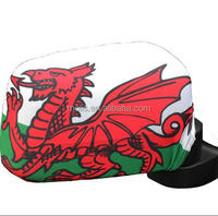 wholesale custom size Wales Flag Car Side MIRROR COVERS