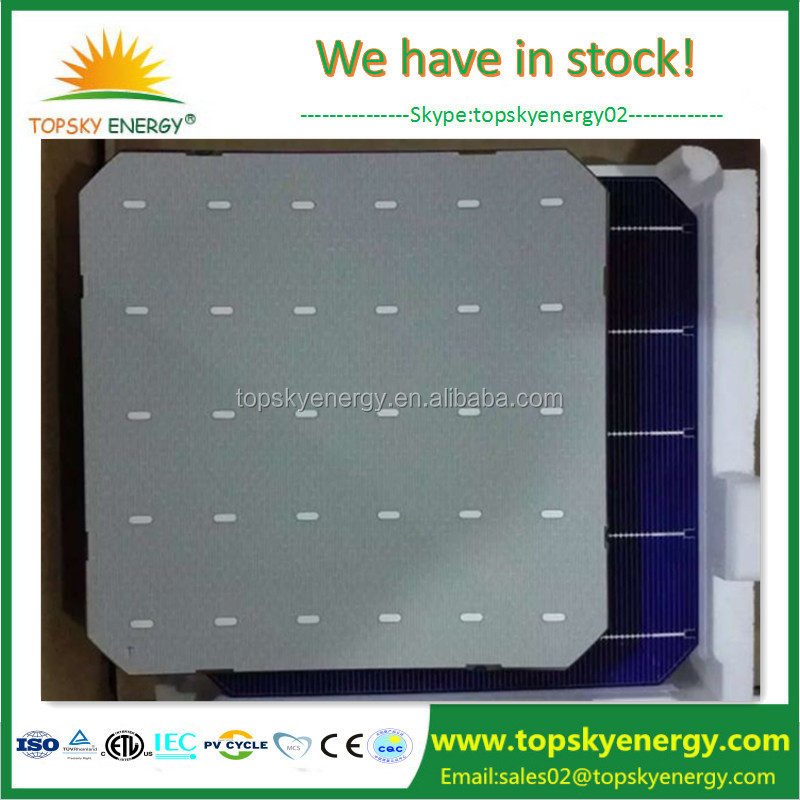 Solar World stocking 5BB high efficiency 6*6 size monocrystalline solar cells