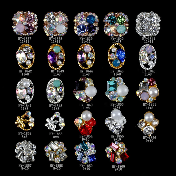 China Yiwu Manufacturer Colorful Glittering Handmade 3D Nail Art Supplies Nail Products, N/a