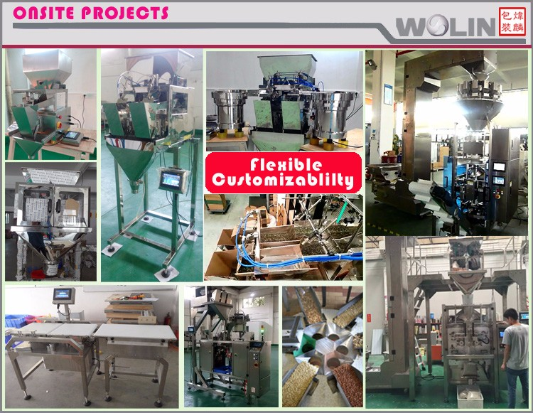 Weighlin auto plastic paper tray load fill lid seal labelling flexible packaging line for beans, fresh vegetables and fruits.