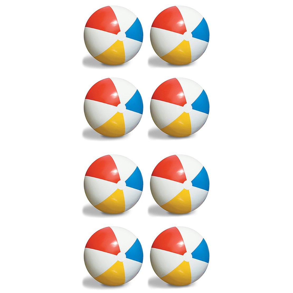 8-Pack Swimline Inflatable 36-Inch Classic Rainbow Giant Beach Balls | 8 x 90036