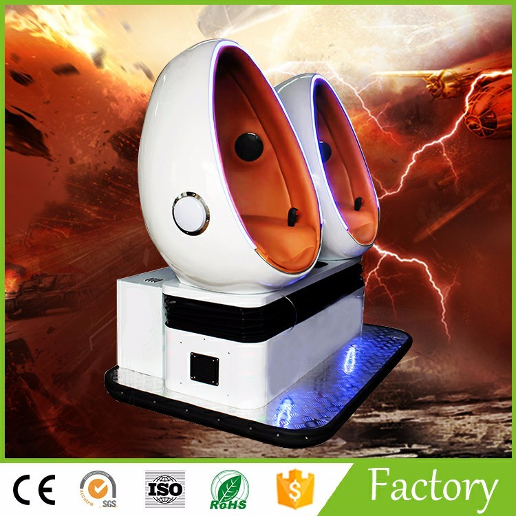 Special design for 9D Virtual Reality 9D egg Cinema Hong Kong fair virtual reality with Electric motion platform