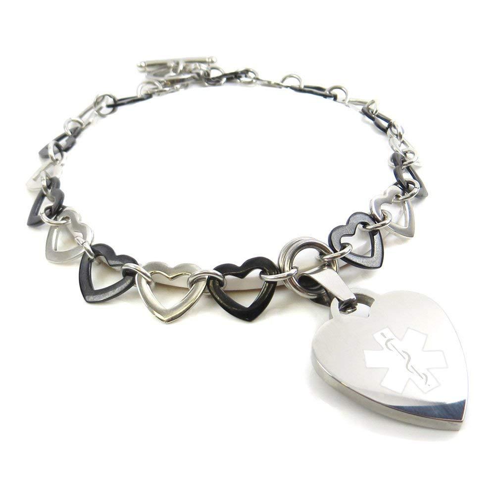 Pattern My Identity Doctor Pre-Engraved /& Customizable Sleep Apnea Bracelet White, Millefiori Glass