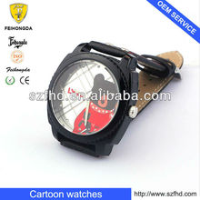 2013 Popular watch Cartoon flip top Interchangeable dial children's watches