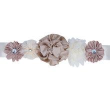 Женский атласный пояс JaneVini, пояс с цветами и стразами, в богемном стиле, для свадебной вечеринки, подружки невесты(Китай)