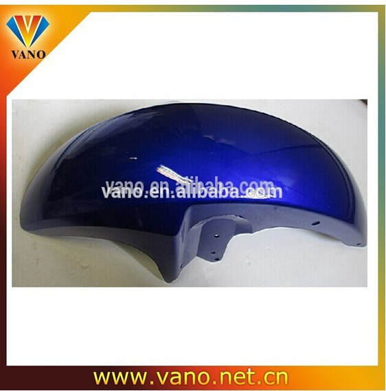 Many different color motorcycle plastic parts blue color CG150 motorcycle front fender