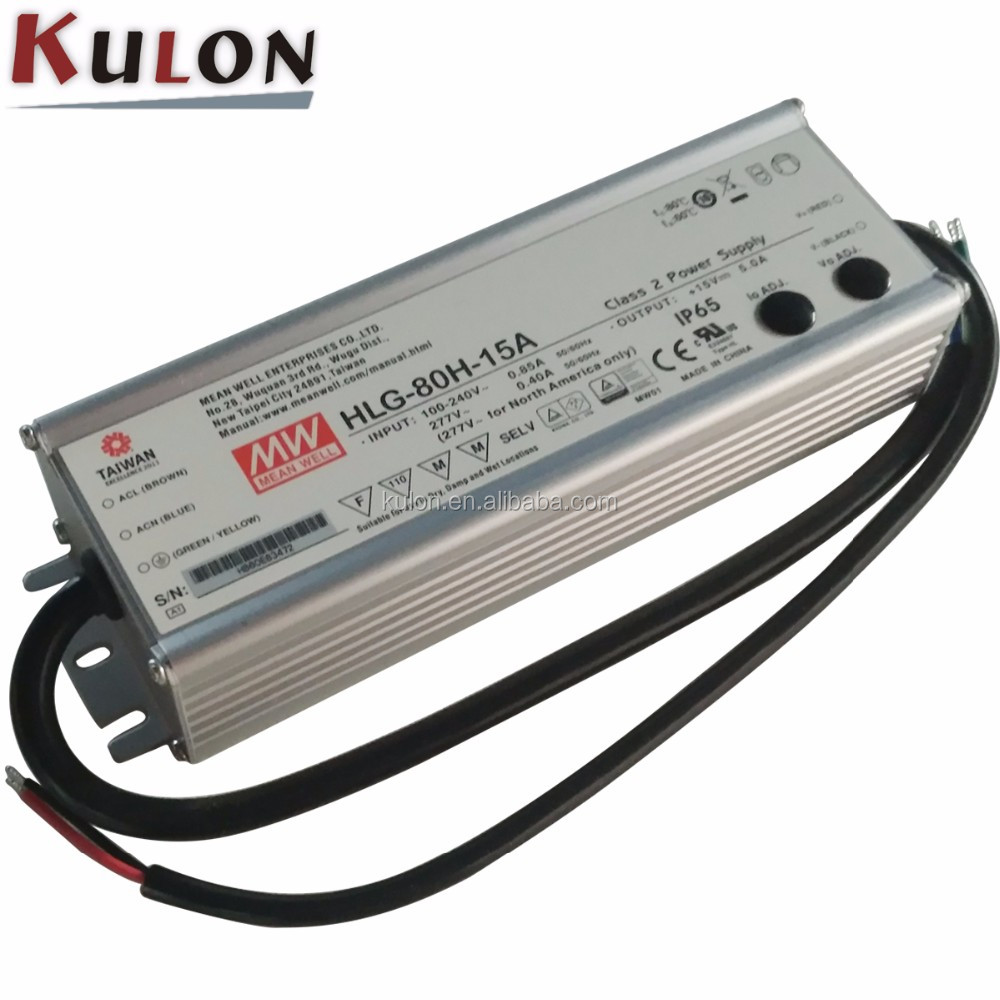 MW Mean Well LPF-60D-20 20V 3A 60W Single Output LED Switching Power Supply with PFC