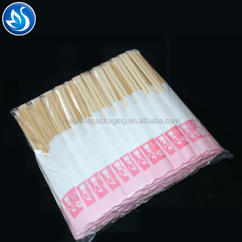 With Colorful Paper Sleeves Disposable Bamboo Custom Chopstick