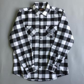 Fashion Mens Flannel Black White Checked Thick Material Lumberjack