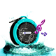Consumer electronics IPX4 Waterproof speaker .USB/MIC/mini Bike holder