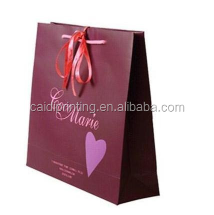 Cheap and small custom paper gift bags with handles