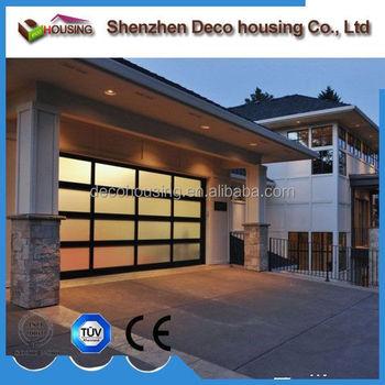 Residential Simple Elegant Automatic Aluminum Glass Garage Doorused