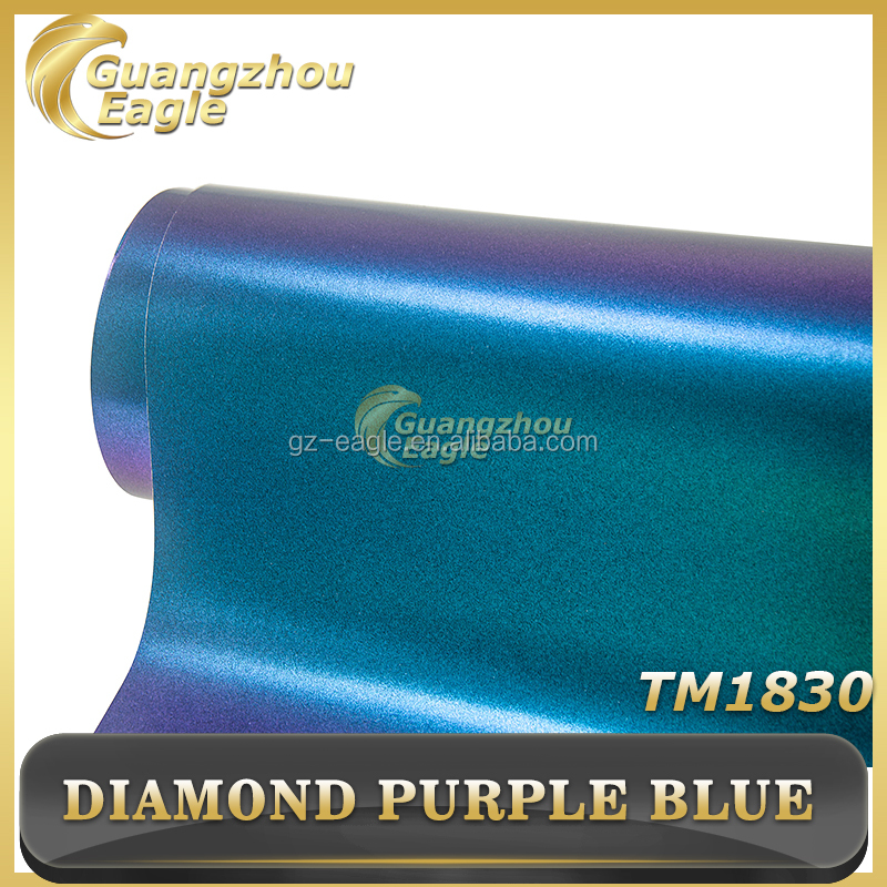 2017 Hot sale Latest Product Matte Diamond Purple Blue Vinyl Blu Film for Car